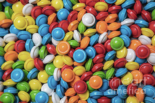 Colorful Hard Candy Background by Leslie Banks
