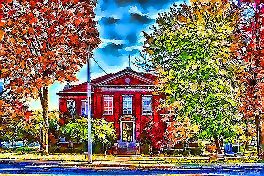 Kathy Tarochione - Colorful Harrison Courthouse