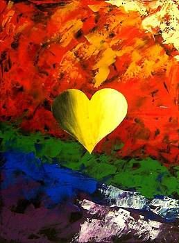 Colorful Heart LOVE painting by Teo Alfonso