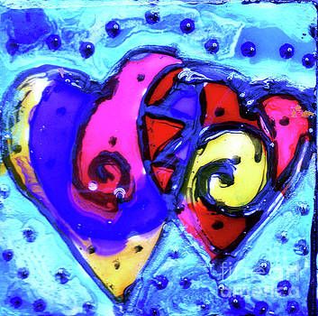 Colorful Hearts Equals Crazy Hearts by Genevieve Esson