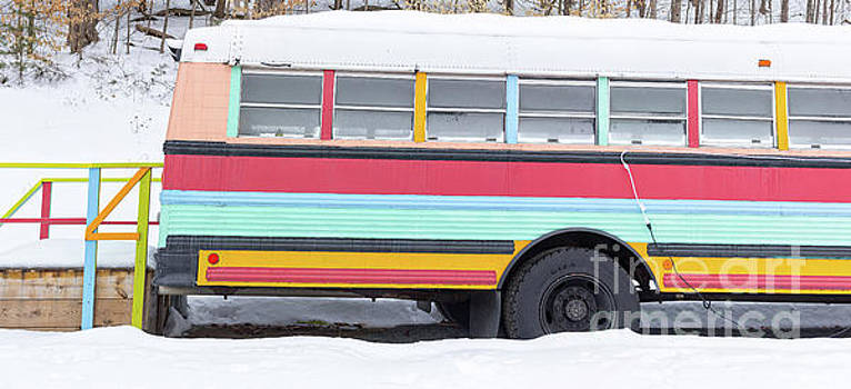 Colorful Hippy Bus Panorama  by Edward Fielding