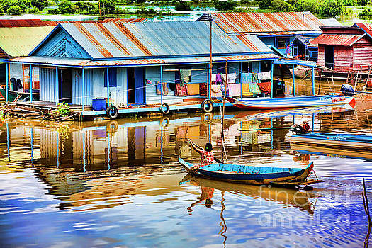 Chuck Kuhn - Colorful Homes Tonle Sap Cambodia