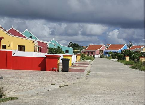 colorful housing Aruba by Cheri Carman