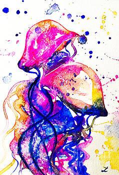 Zaira Dzhaubaeva - Colorful Jellyfish