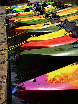 Colorful Kayaks by Marcia Socolik