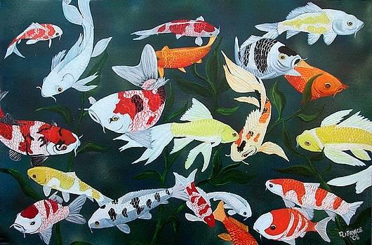 Colorful Koi by Debbie LaFrance
