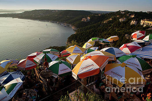 Herronstock Prints - Colorful Lake Travis Restaurant overlooks Hippie Hollow
