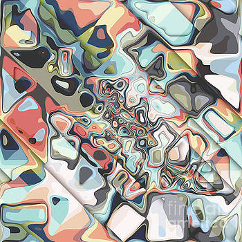 Colorful Layers of Abstract Shapes by Phil Perkins
