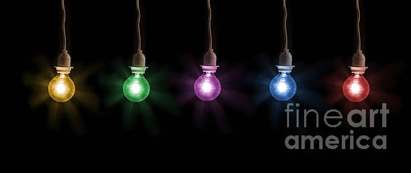 Colorful Light Bulbs by Sharon Dominick