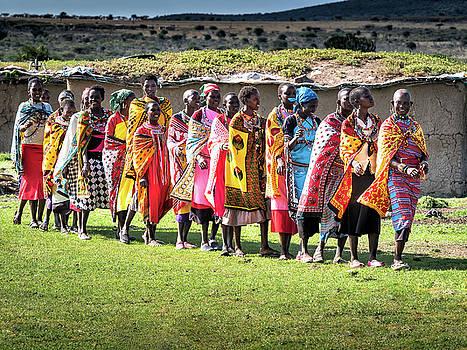 Colorful Maasai Ladies by Robin Zygelman
