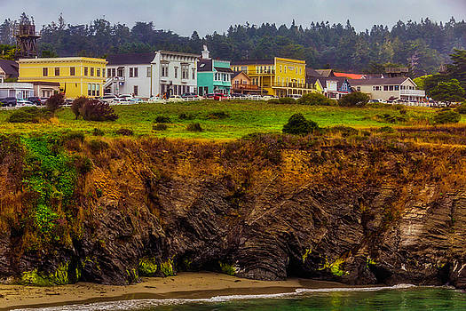 Colorful Mendocine Town by Garry Gay