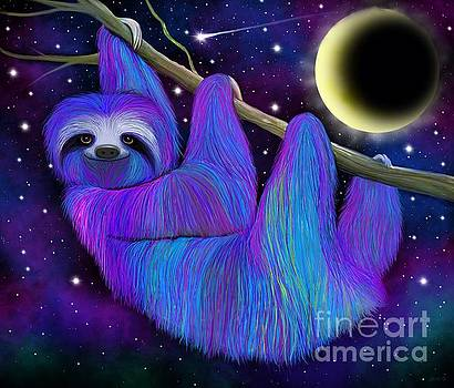 Colorful Moonlight Sloth by Nick Gustafson