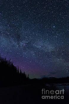 Colorful Night Sky by Bernita Boyse