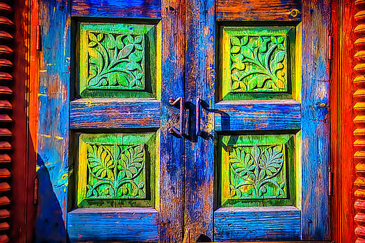 Colorful Old Wooden Door by Garry Gay