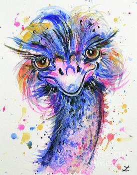 Zaira Dzhaubaeva - Colorful Ostrich