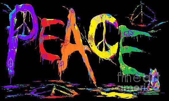 Nick Gustafson - Colorful Peace Cat