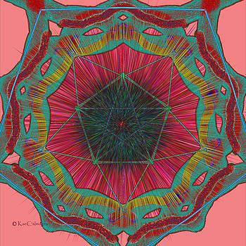 Colorful Pentagonal Abstract by Kae Cheatham