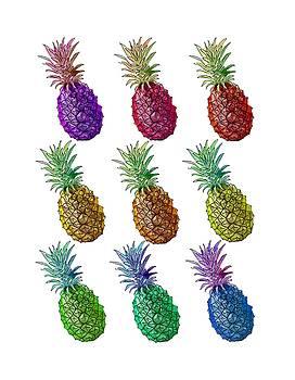 Colorful Pineapples by Masha Batkova