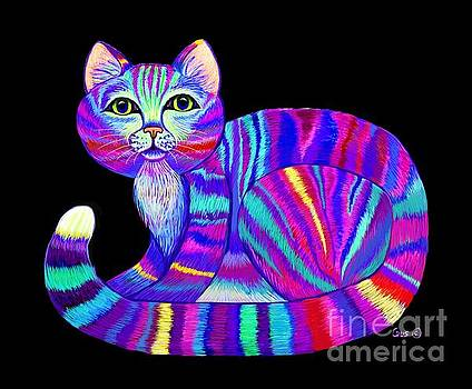 Colorful Rainbow Kitty by Nick Gustafson