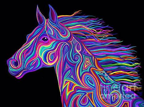 Colorful Rainbow Stallion  by Nick Gustafson