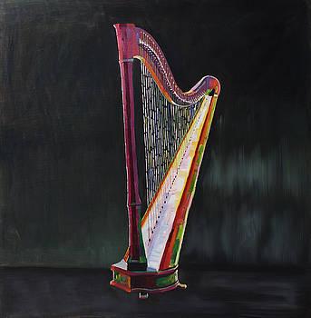 Colorful Realistic Harp by Atelier B Art Studio