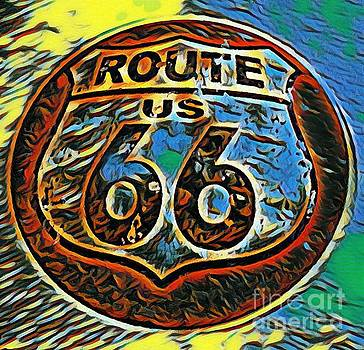 John Malone - Colorful Route Sixty Six Sign
