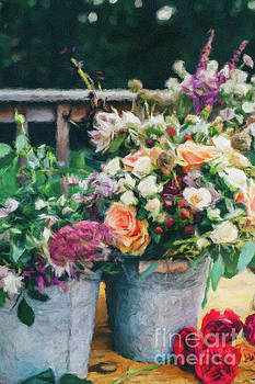 Colorful Shabby Chic flowers by Amy Cicconi