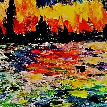 Colorful Skyline by Carol Stanley
