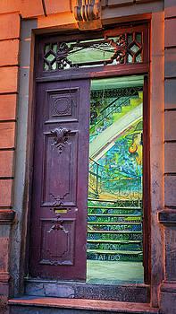 Colorful Stairwell Havana Cuba by Joan Carroll