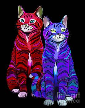 Nick Gustafson - Colorful Striped Cats