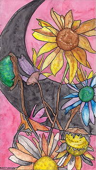 Colorful Sunflowers by Ashley Vaughn