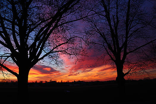 Colorful sunset by Doug Hoover