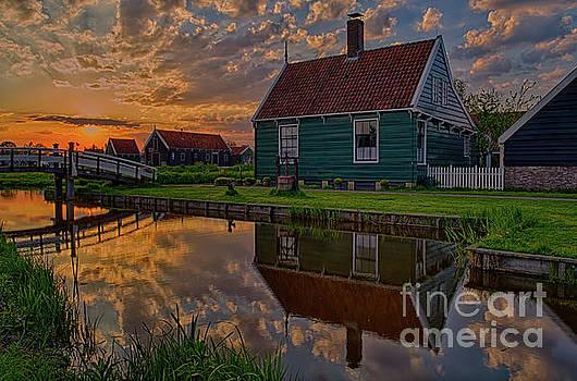 Colorful Sunset in Zaanse Schans, Netherlands by Sinisa CIGLENECKI