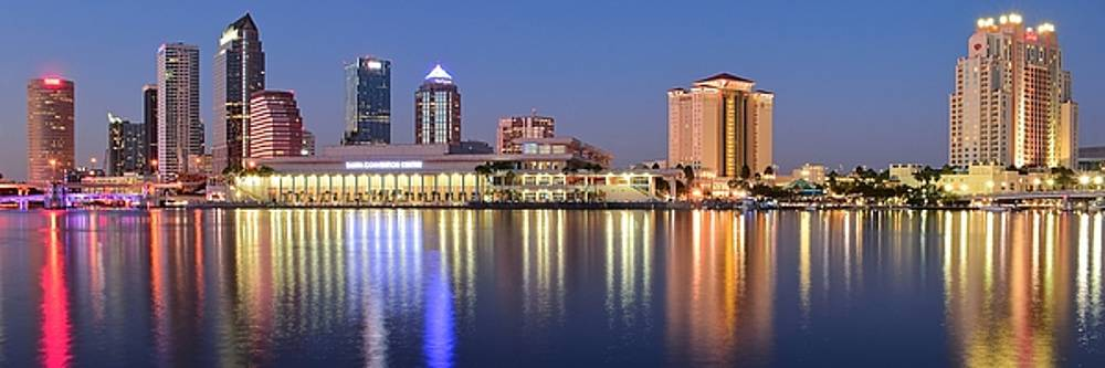 Frozen in Time Fine Art Photography - Colorful Tampa Panorama