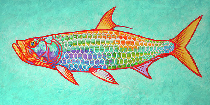 Colorful Tarpon by Guy Crittenden