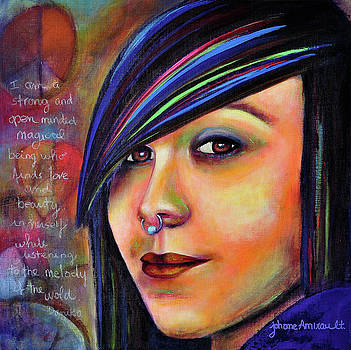 Colorful Teen an Artistic Representation of a Colorful Daughter by Johane Amirault