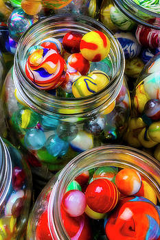Colorful Toy Marbles by Garry Gay