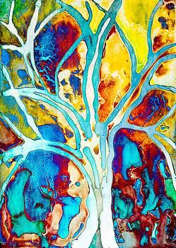 Priya Ghose - Colorful Tree Art By Priya Ghose