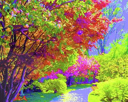 Colorful Trees In Spring by Susanna Katherine