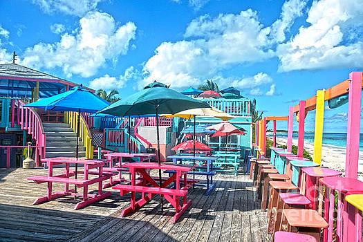 Colorful Tropical Bahamas Bar and Grill by Catherine Sherman