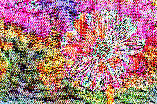 Colorful Watercolor Flower by Lita Kelley