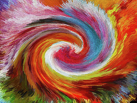 Colorful Wave Abstract by MS  Fineart Creations