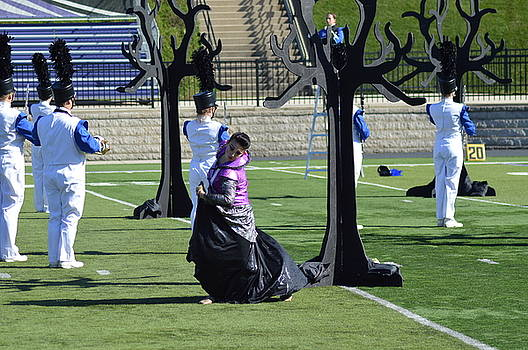 Colorguard competition by Michelle Hoffmann