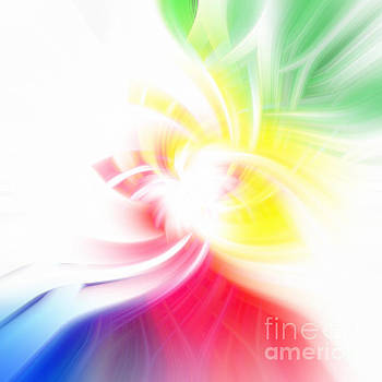 Colors of the Rainbow Abstract by Phill Petrovic