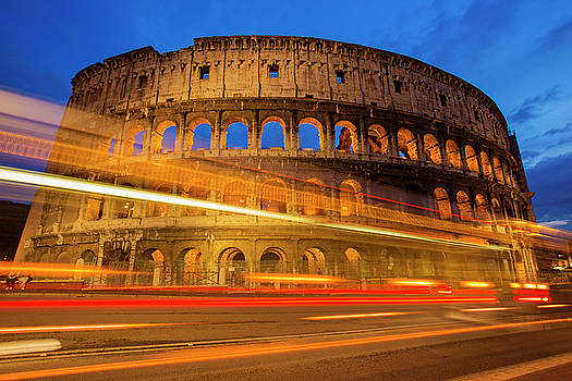 Colosseum at Dusk by Mircea Costina Photography