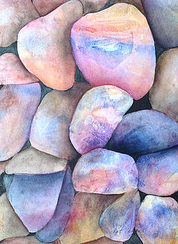 Coloured Stones by Pat Vickers