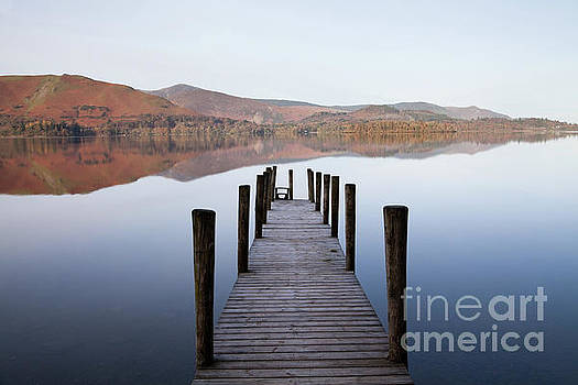 Colourful Ashness Jetty dawn by Gavin Dronfield