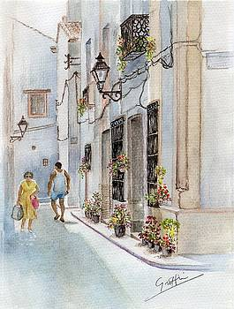 Colourful Corner in Spain by Mai Griffin