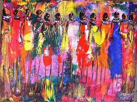 Colourful Women by Joseph Muchina