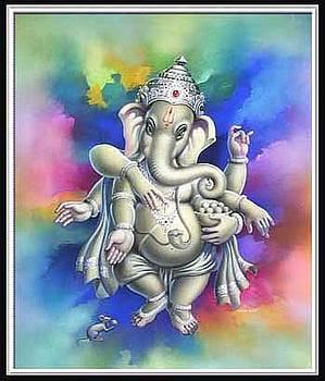 Colourfull Ganesh by Milind Shimpi